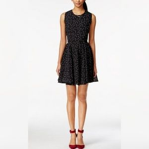 Maison Jules Arrow Print Fit and Flare Dress